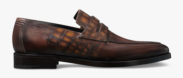 Andy Demesure Leather Patina Illusion Loafer, TOBACCO BIS, hi-res