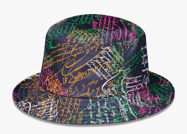Silk Scritto Bucket Hat