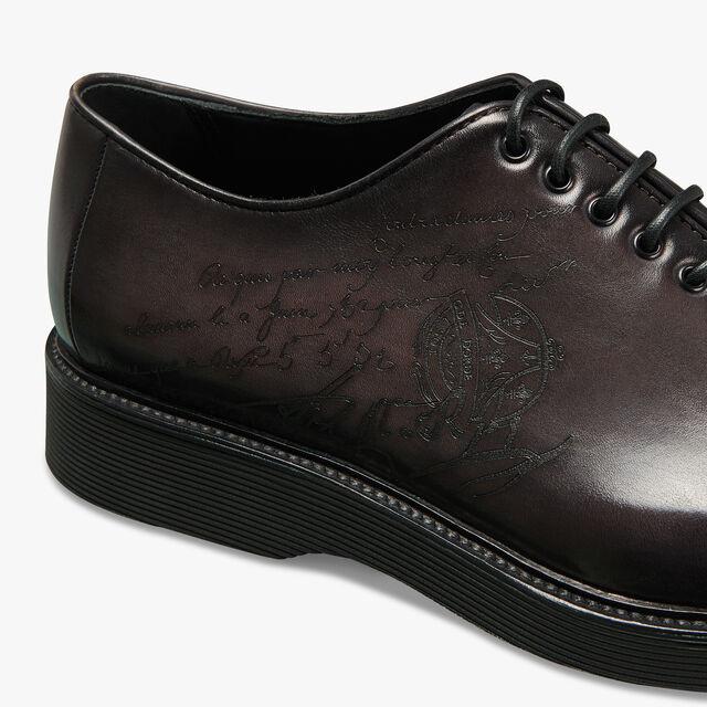 Spada Demesure Scritto Calf Leather Oxford, DEEP BLACK, hi-res