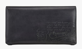 Day Engraved Calf Leather All-in-One Wallet, NERO ANTRACITE, hi-res