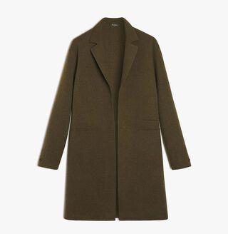 Unlined Supple Cashmere & Wool Coat, KAKI, hi-res