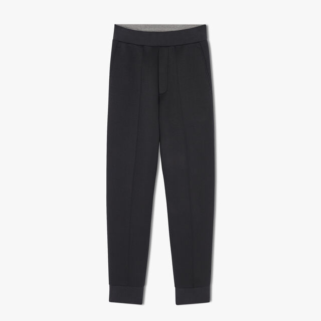 Regular Fit Adjustable Jersey Joggers, NOIR/DARK LEAD, hi-res