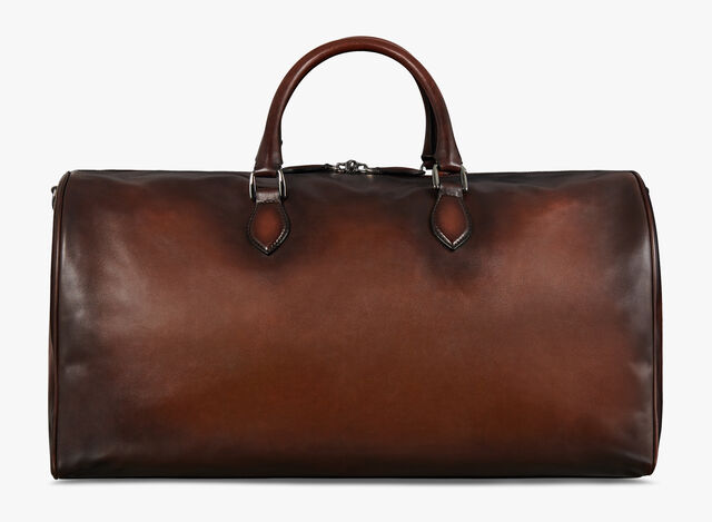 Jour Off Large Leather Travel Bag, MOGANO, hi-res