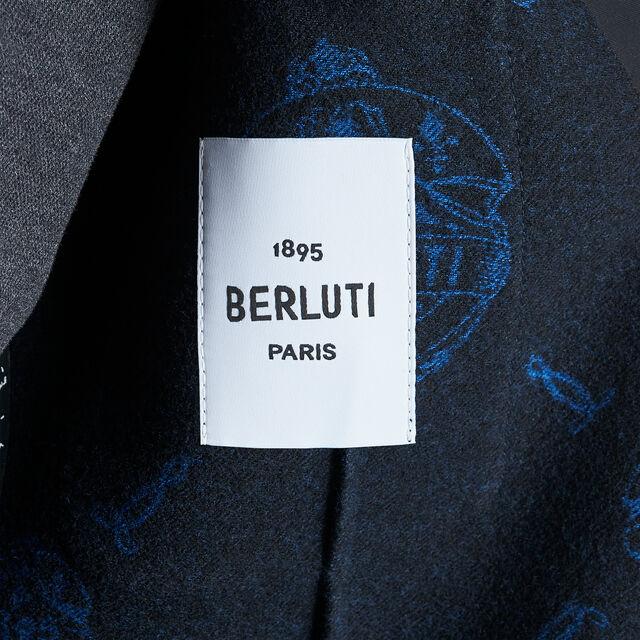 Signature Jacquard Double Face Jacket , SPRING SKY BLUE / NOIR, hi-res