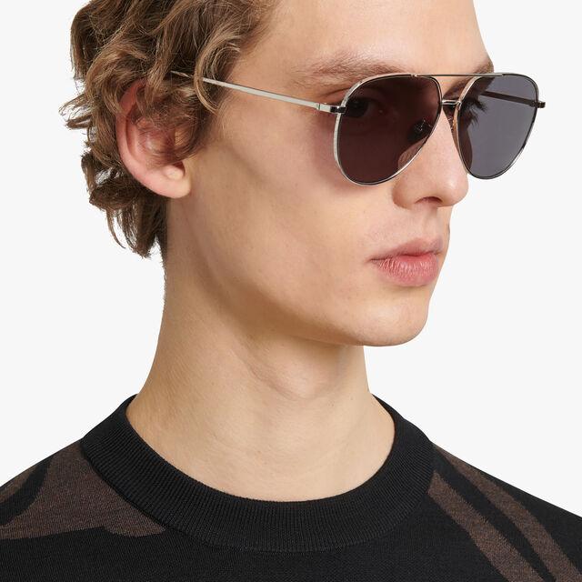 Glint Scritto Metal Sunglasses, SILVER + BRONZE, hi-res