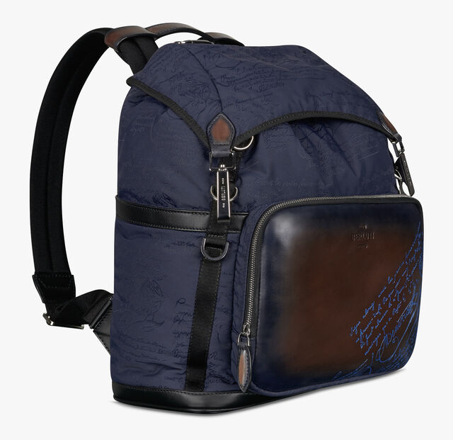 Hike On Small Nylon and Leather Scritto Backpack