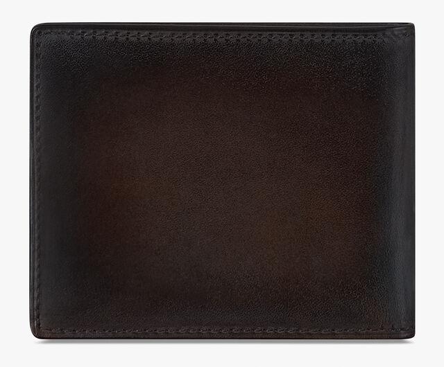 Makoré Scritto图纹皮革钱包, ICE BLACK, hi-res