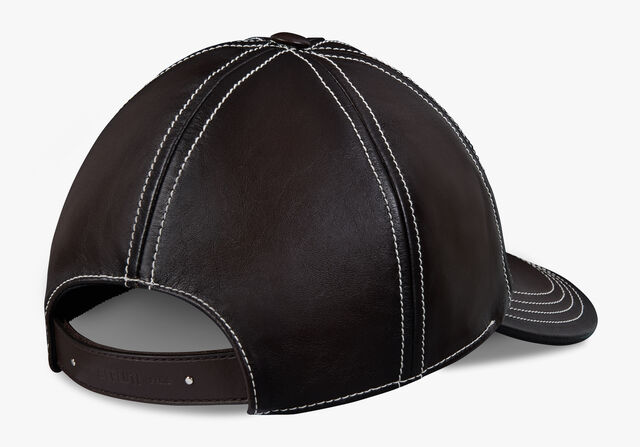 Leather Cap, EBANO, hi-res