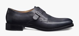 Classic Roccia Leather Buckle Shoe, NERO GRIGIO, hi-res