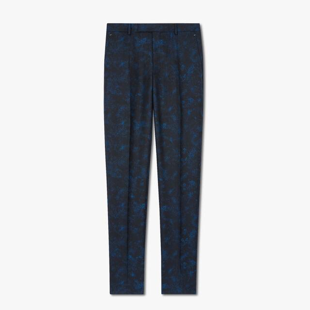 Alessandro大理石纹长裤, BLUE MARBLE, hi-res