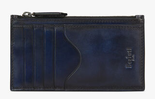Koa Maxi Leather Zippered Card Holder, BLU PROFONDO, hi-res