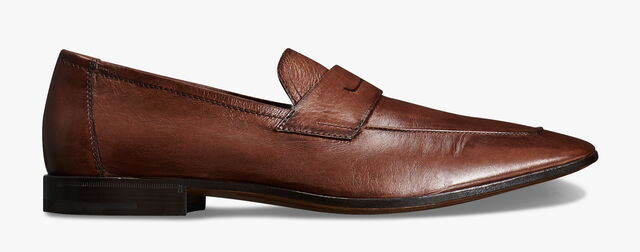 Lorenzo Kangaroo Leather Loafer, TABACCO, hi-res
