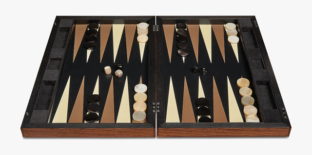 Leather Backgammon, BRUN, hi-res