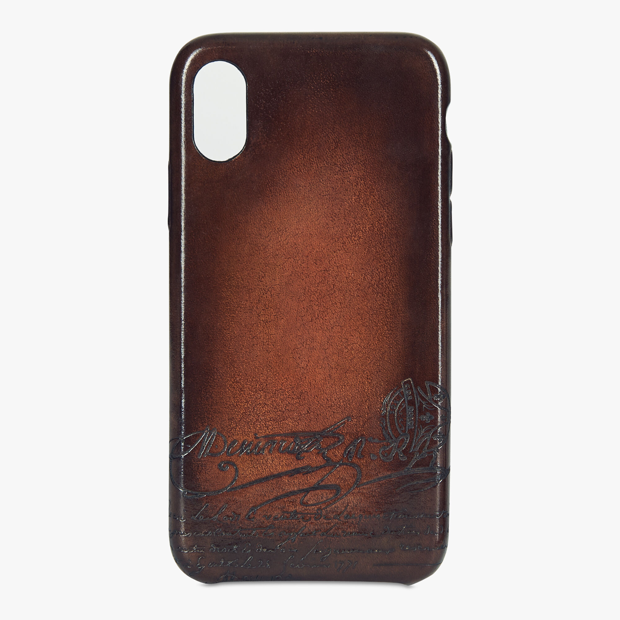 coque iphone xs max leather