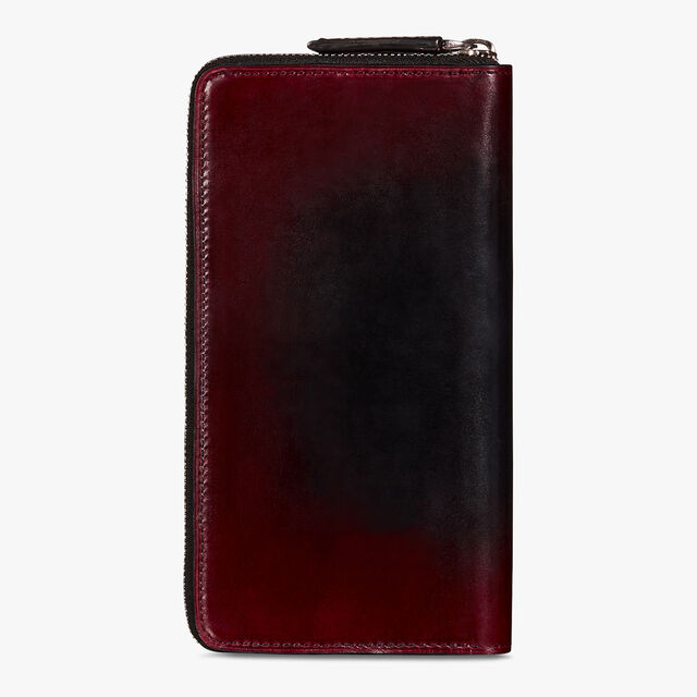 Itauba Epure Leather Long Zipped Wallet, BLACK RED, hi-res
