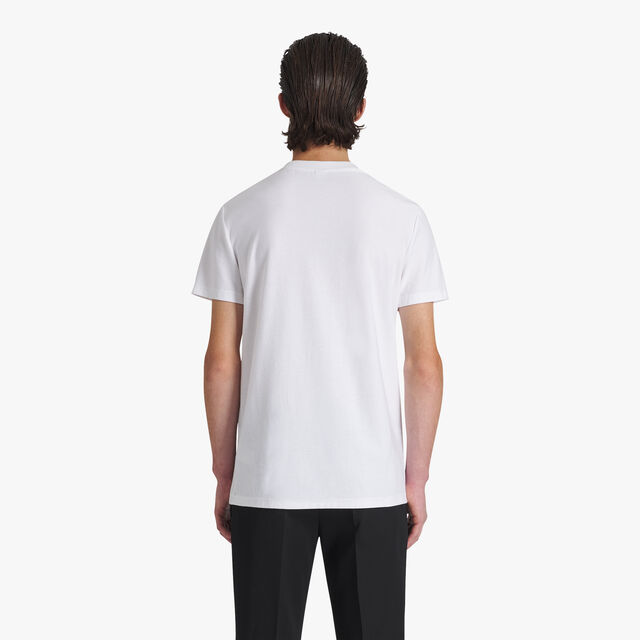 Cotton T-Shirt With Terry Cloth Logo, BLANC OPTIQUE, hi-res