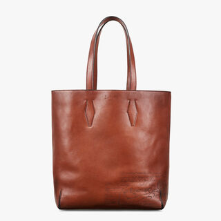 Esquisse Engraved Calf Leather Tote Bag, MOGANO, hi-res
