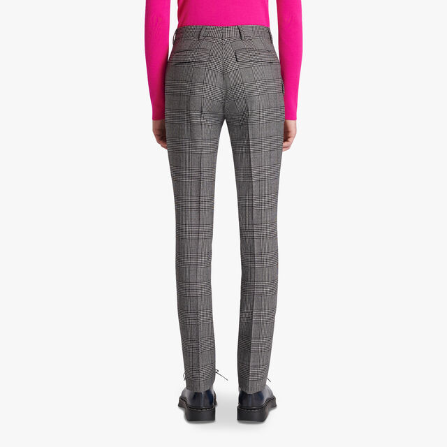 Mouline Check Regular Trousers, BLACK CHECK, hi-res