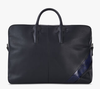 Cube Leather Travel Bag, NAVY BLU, hi-res