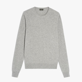 Cashmere Crewneck Sweater, CLOUD, hi-res