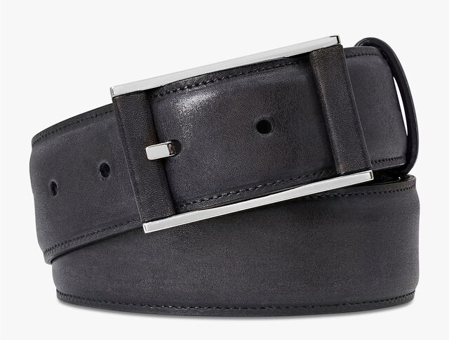 Dual Scritto Leather Belt - 35 mm, DEEP BLACK, hi-res