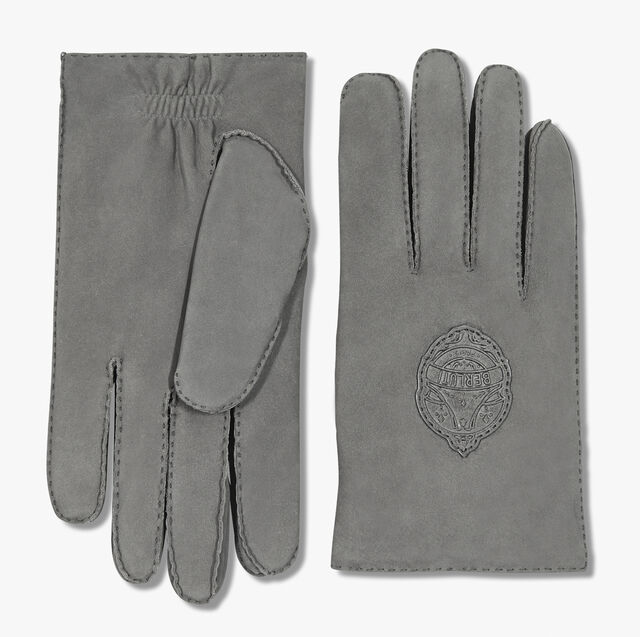 Leather Gloves, GRIS, hi-res