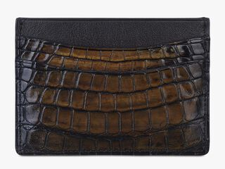 Bambou Alligator Leather Card Holder