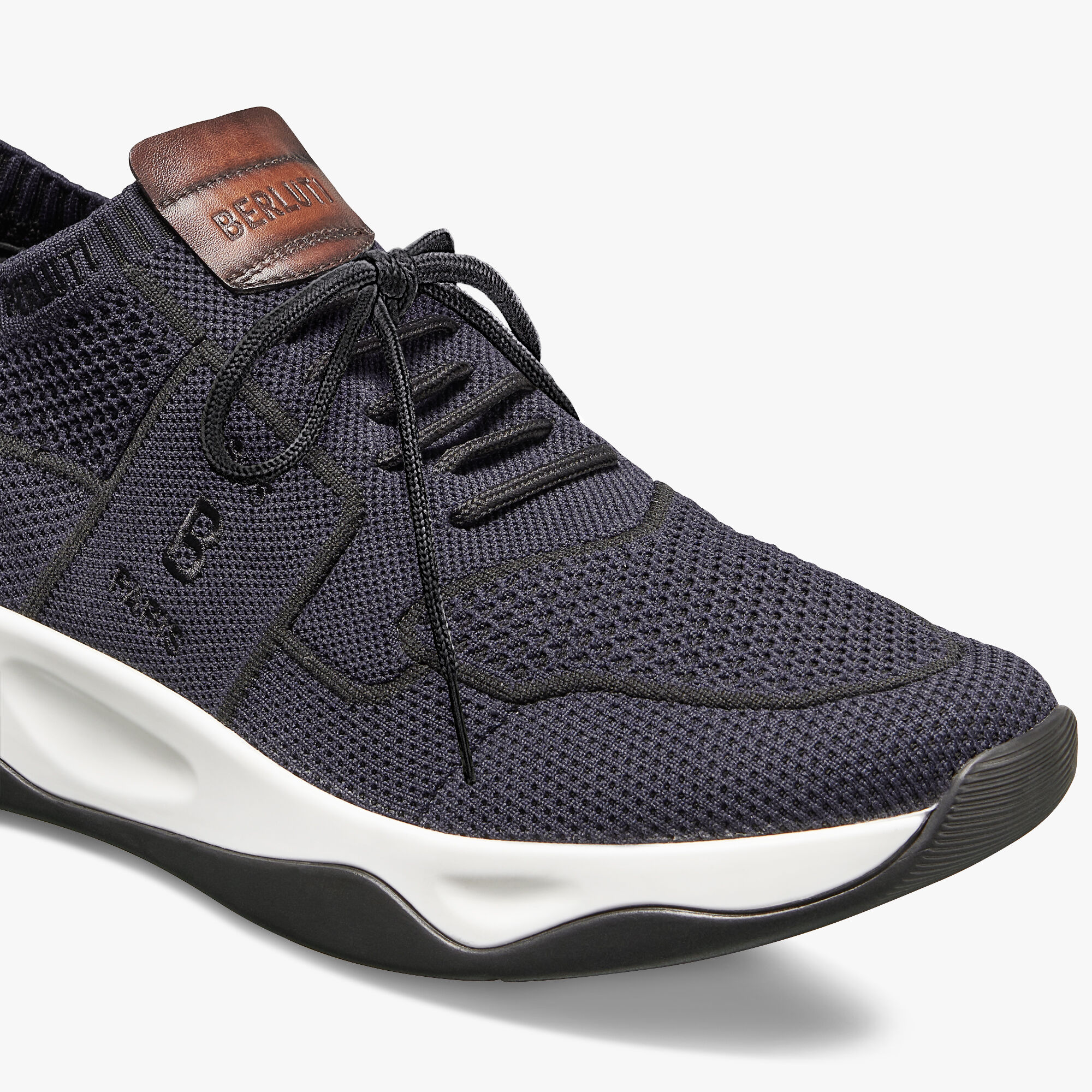 Shadow Knit Sneaker With Leather