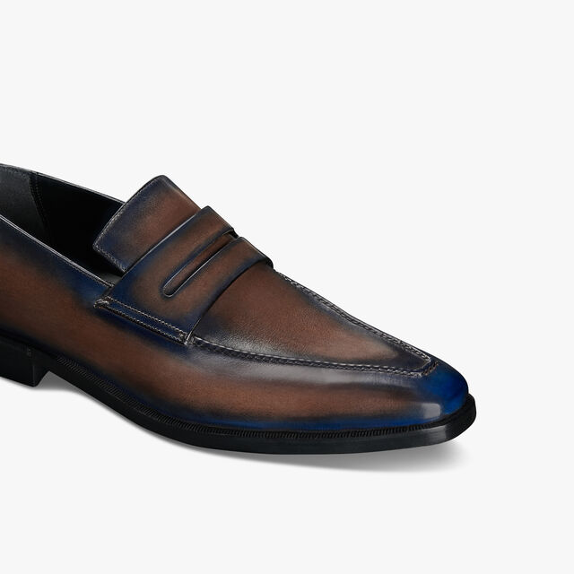 Andy Démesure Leather Loafer, BURNT BLUE, hi-res