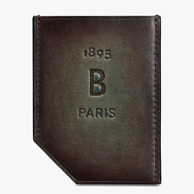 Slide Leather Card Holder, ICE BROWN, hi-res