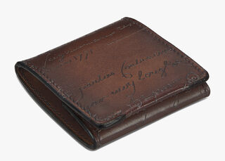 Origine Engraved Calf Leather Coin Purse, MOGANO, hi-res
