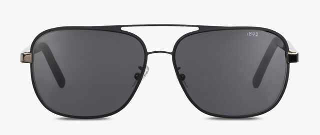 Shine Square Aviator Shape Metal And Acetate Sunglasses, BLACK, hi-res
