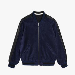 Calfskin Suede Jacket, BLUE NAVY, hi-res