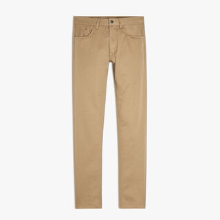 Pantalon Denim 5 Poches, STRAW, hi-res