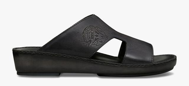 Dubai Leather Sandal, NERO GRIGIO, hi-res
