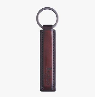 Leather Zip Key Ring, BLOOD, hi-res