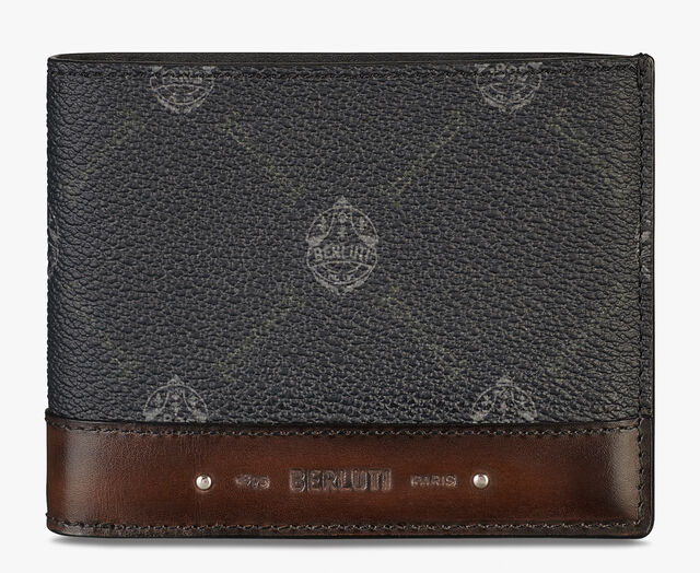 Excursion Canvas And Leather Wallet, BLACK+TDM INTENSO, hi-res