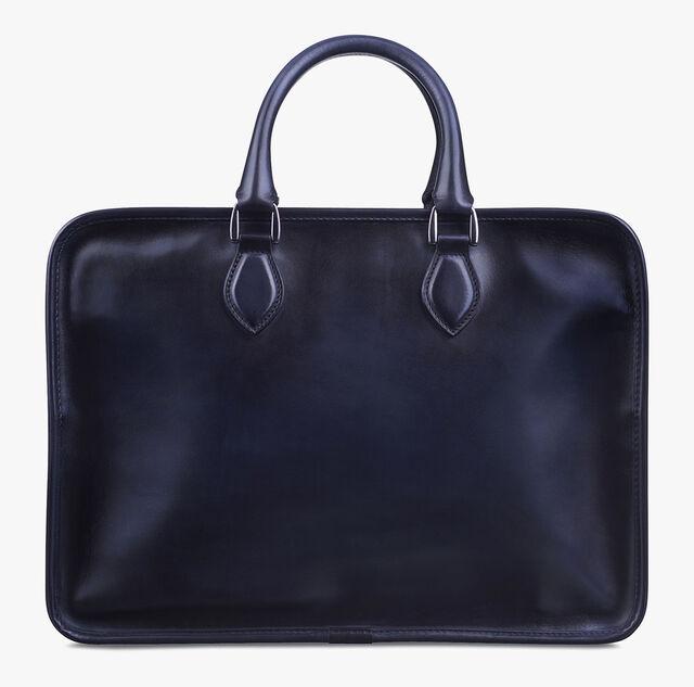 Deux Jours Leather Briefcase, NERO, hi-res