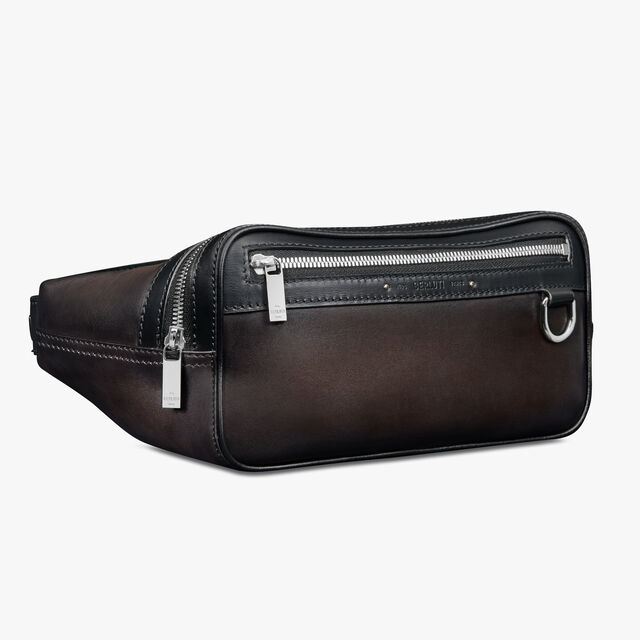 Balade Leather Messenger Bag, ICE BLACK, hi-res