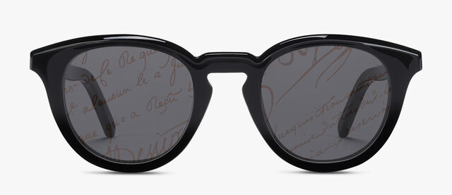 Halo Round Shape Acetate Sunglasses, BLACK + BRONZE, hi-res