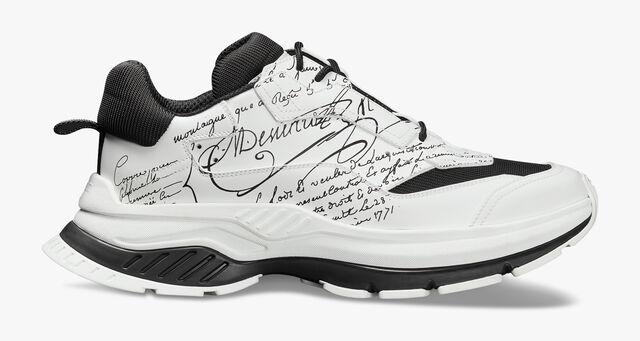 Gravity Scritto Leather Sneaker, WHITE, hi-res