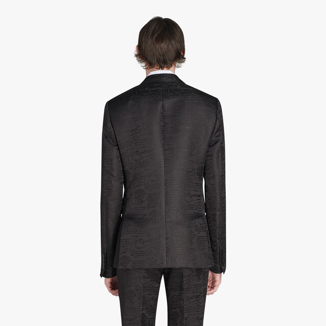 Alessandro Formal Scritto Cotton Tuxedo Jacket, NOIR, hi-res