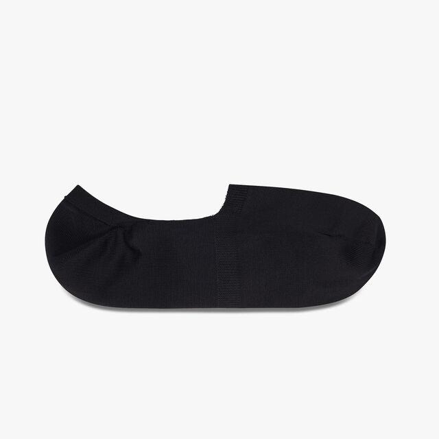Cotton-Blend Ghost Socks, BLACK, hi-res