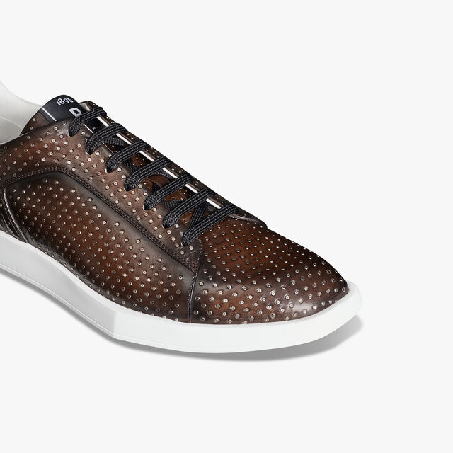 Stellar Leather Sneaker With Studs, TDM INTENSO, hi-res