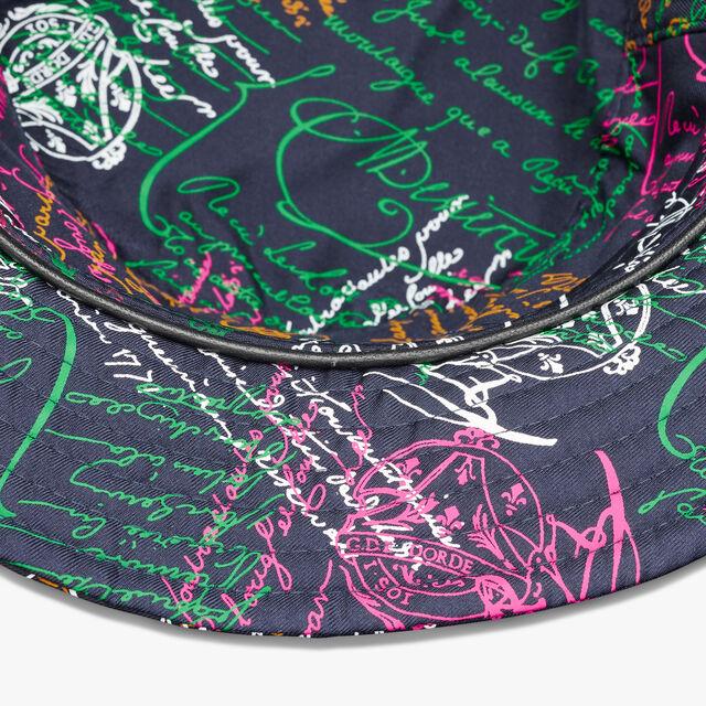 Silk Scritto Bucket Hat, SCRITTO COSMIC BLUE, hi-res