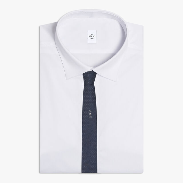圆点标识领带, SPACE BLUE, hi-res