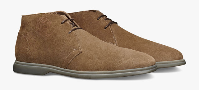 Latitude Suede Leather Desert Boot, TAUPE, hi-res