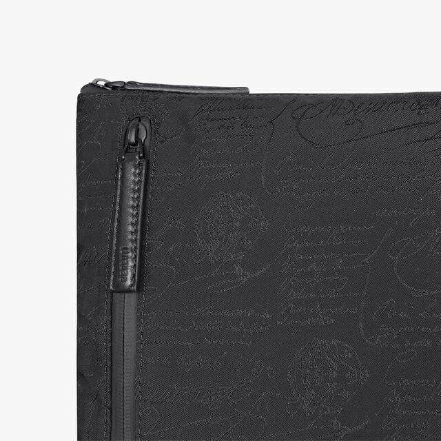 Solo Small Scritto Nylon Messenger Bag, NERO, hi-res