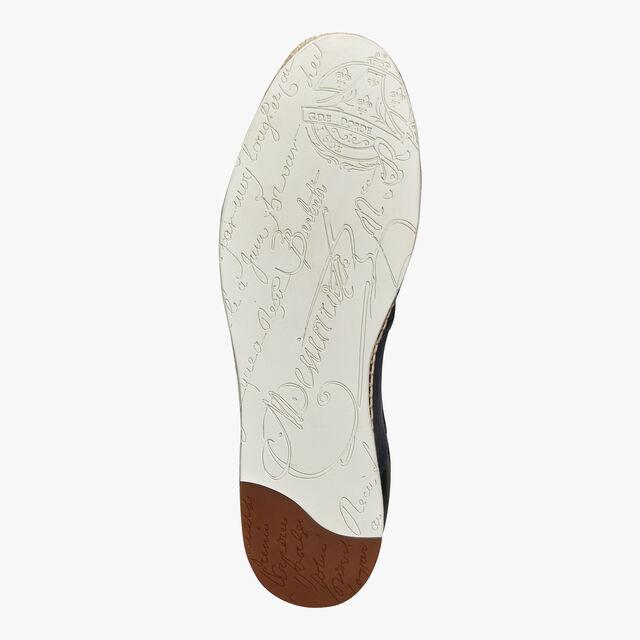 Iban Biarritz Agnello Leather Espadrille, NAVY, hi-res