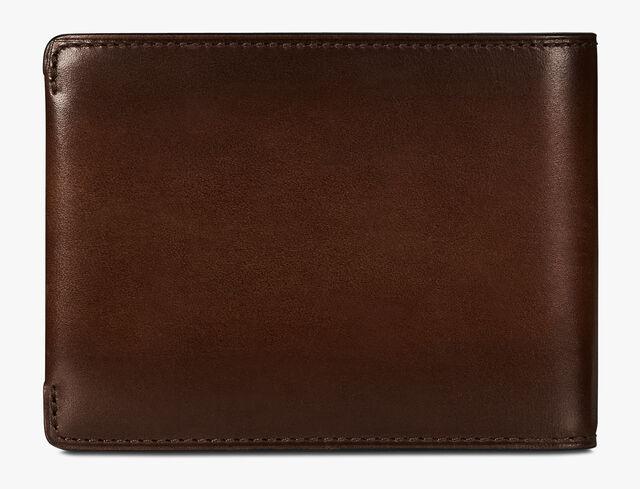Essentiel Epure Scritto Leather Wallet, BRUN+IVORY, hi-res